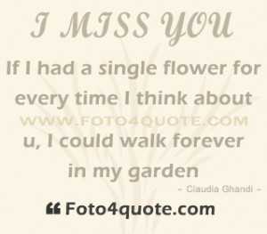 ... don't Care But It Makes Me Miss You Even More - Missing You Quote