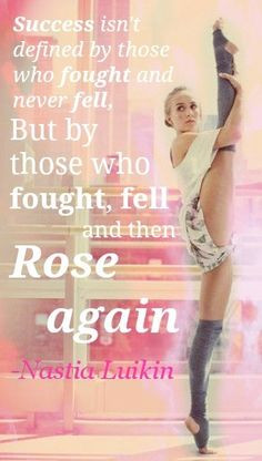 ... fought and rose again. - @Nastia Liukin #NationalGymnasticsDay More