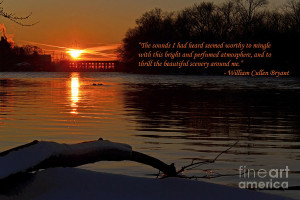 Inspirational Sunset With Quote Photograph