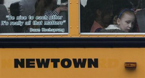 sit behind a quote by slain Sandy Hook Elementary School principal ...