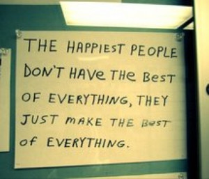 Choose to be happy/