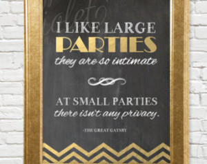 Great Gatsby Quote I Love Big Parties: Great Gatsby Quotes On Etsy, A ...