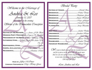 Will Simple Church Wedding Program Wording gifts, cake toppers and ...