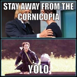 Katniss has always been a bit of a rebel. #YOLO