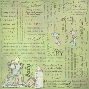 ... Customs - Religious Collection - 12 x 12 Paper - Quotes - Baby