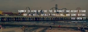 ... this Summer is like one night stand hot as hell quote Facebook Cover
