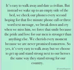 Army. Military. Military Spouse. Love. Deployment quotes. Quotes ...