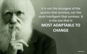The famous quote by Charles Darwin: