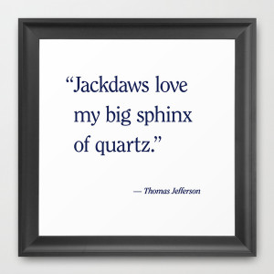 Famous Quotes Framed Art Print