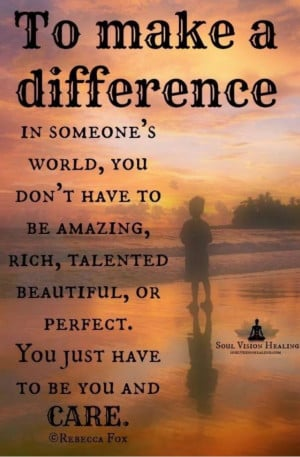 How to make a difference!