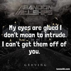 LyricArt for Guardian Angel by Abandon All Ships More