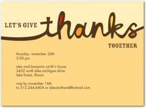 Cursive Thanks - Thanksgiving Party Invitations - Pinkerton Design ...