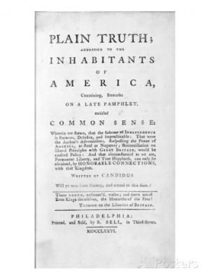 Thomas Paine Common Sense Summary