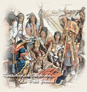Painting of the death of Native American Chief Joseph of the Nez Perce ...