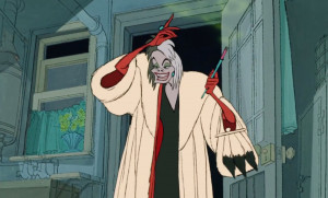 Cruella is talking about puppies. We hate to remind you of this, but ...