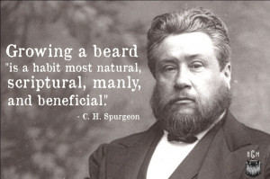 "Charles Spurgeon: Growing a beard ""is scriptural"""