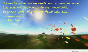 quote self-worth, honesty