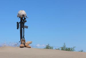 Fallen Soldier Memorial Dog