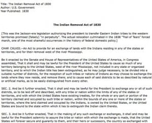 andrew jackson quotes indian removal act