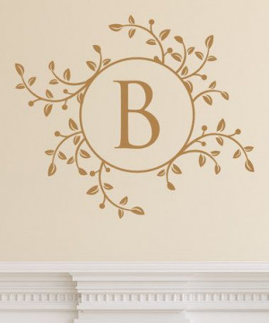... zulily! Branches & Leaves Monogram Wall Quotes™ Decal #zulilyfinds