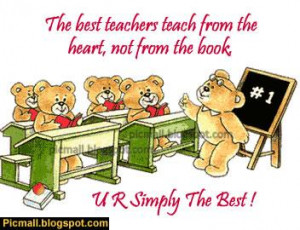 You Are The Best Teacher Image