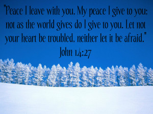 ... the prophecies that Christ will bring peace on earth for good one day