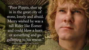 About Merry missing Pippin, The Return of the King, Book V, The Ride ...