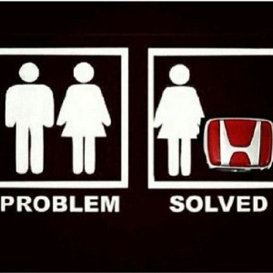 Honda love. All a girl needs is her car