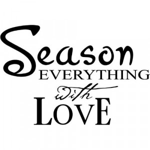Season everything with Love Wall art wall sayings vinyl letters ...