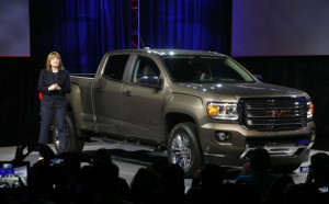Incoming GM CEO Mary Barra introduces the 2015 GMC Canyon for the ...