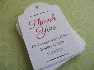 Personalized Tags, Custom Wedding, Shower, Thank You, Gift Tags or ...