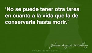 Frases de vida de Johann August Strindberg