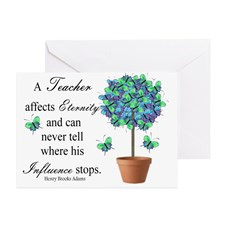 retired teacher quote BUTTERFLIES Greeting Card for