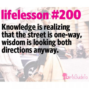 Little Life Lesson #200: Wisdom