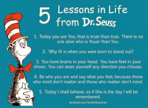 Dr Seuss 5 Lesson in Life from Dr. Seuss
