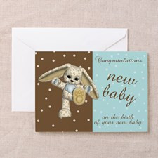Modern New Baby Congratulations Greeting Card for