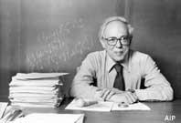 Abraham Pais, 1918-2000. Photo by Ingbert Gruttner, Rockefeller ...