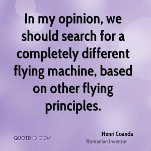 Henri Coanda Quotes
