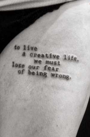 no fear tattoo quotes quotesgram