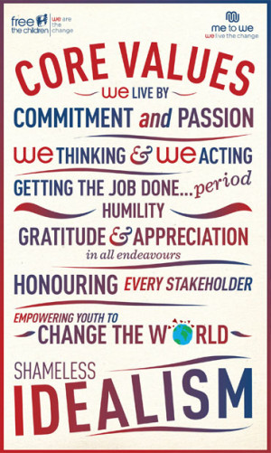 the core values but they will share which core value that they focused ...