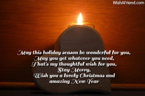 May this holiday season be wonderful for you,