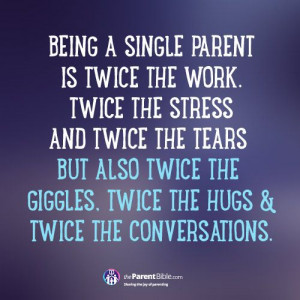Being A Single Parent…