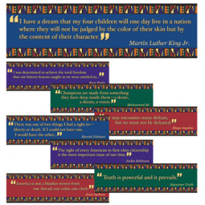 ... Educational Posters / Black American Famous Quotes Bulletin Board Set