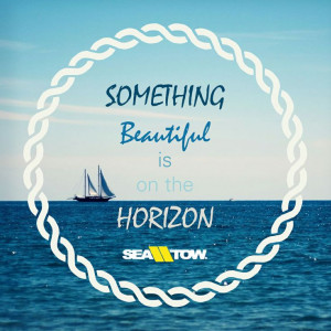 ... horizon. #boat #quote #boating #sea #tow #seatow #nautical #horizon