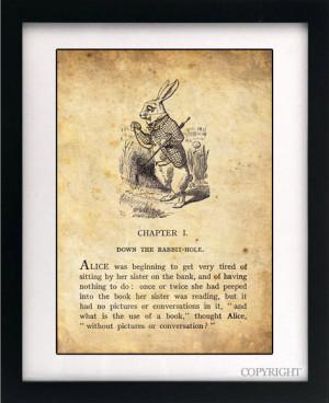 Alice Wonderland Book Quote...
