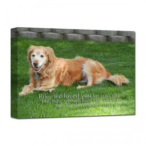 Gift Dog PET Lover Loss of Pet Portrait Art words photo Personalized ...