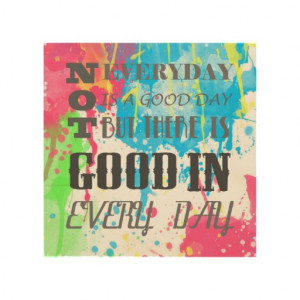 Cool quote colourful vibrant watercolours splatter wood canvas