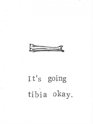 Image of Funny Skeleton Anatomy Greeting Card Tibia