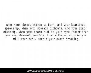Heart break quote...