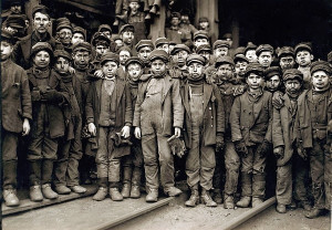 Child laborers portrayed by Lewis Hine in 1911. Breaker Boys were used ...
